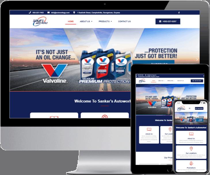 sankars-autoworks-website